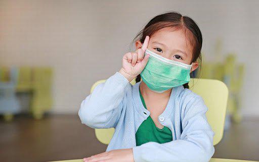 cách đeo khẩu trang y tế cho trẻ em